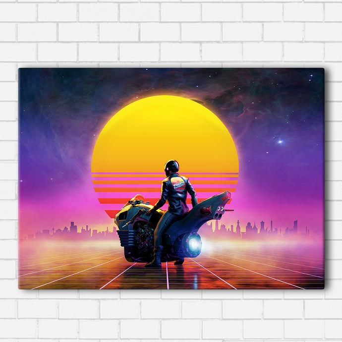 Vaporwave Bike Canvas Sets