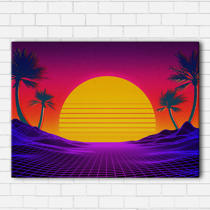 Vaporwave Miami Canvas Sets