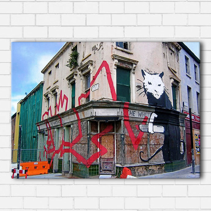 Banksy Wall Graffiti Canvas Sets