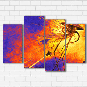 "War of the Worlds Canvas SetsWall Art4 PIECE / SMALL / Standard (.75"") - Radicalave"