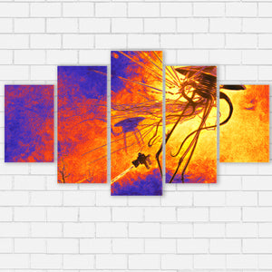 "War of the Worlds Canvas SetsWall Art5 PIECE / SMALL / Standard (.75"") - Radicalave"