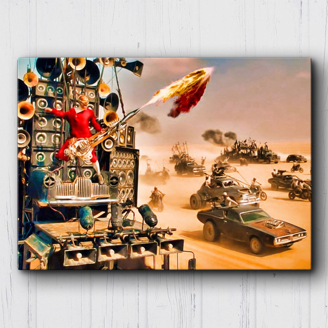 Mad Max Fury Road War Party Guitar Canvas Sets