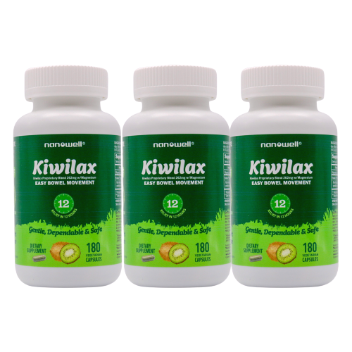 3 Bottles of Kiwilax 180 Vegetarian Capsules