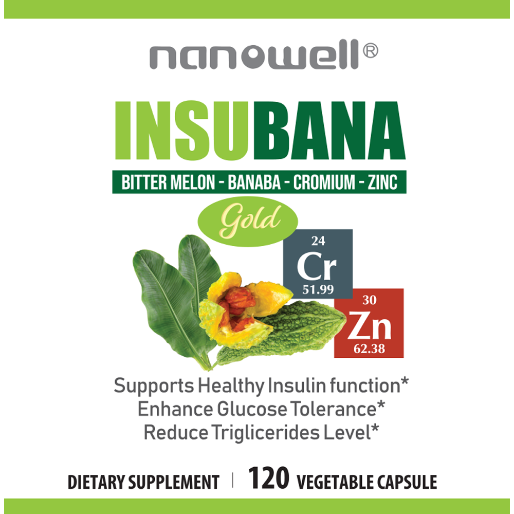 4 Bottles of InsuBana-CZ Gold (120 Vegetarian Caps)