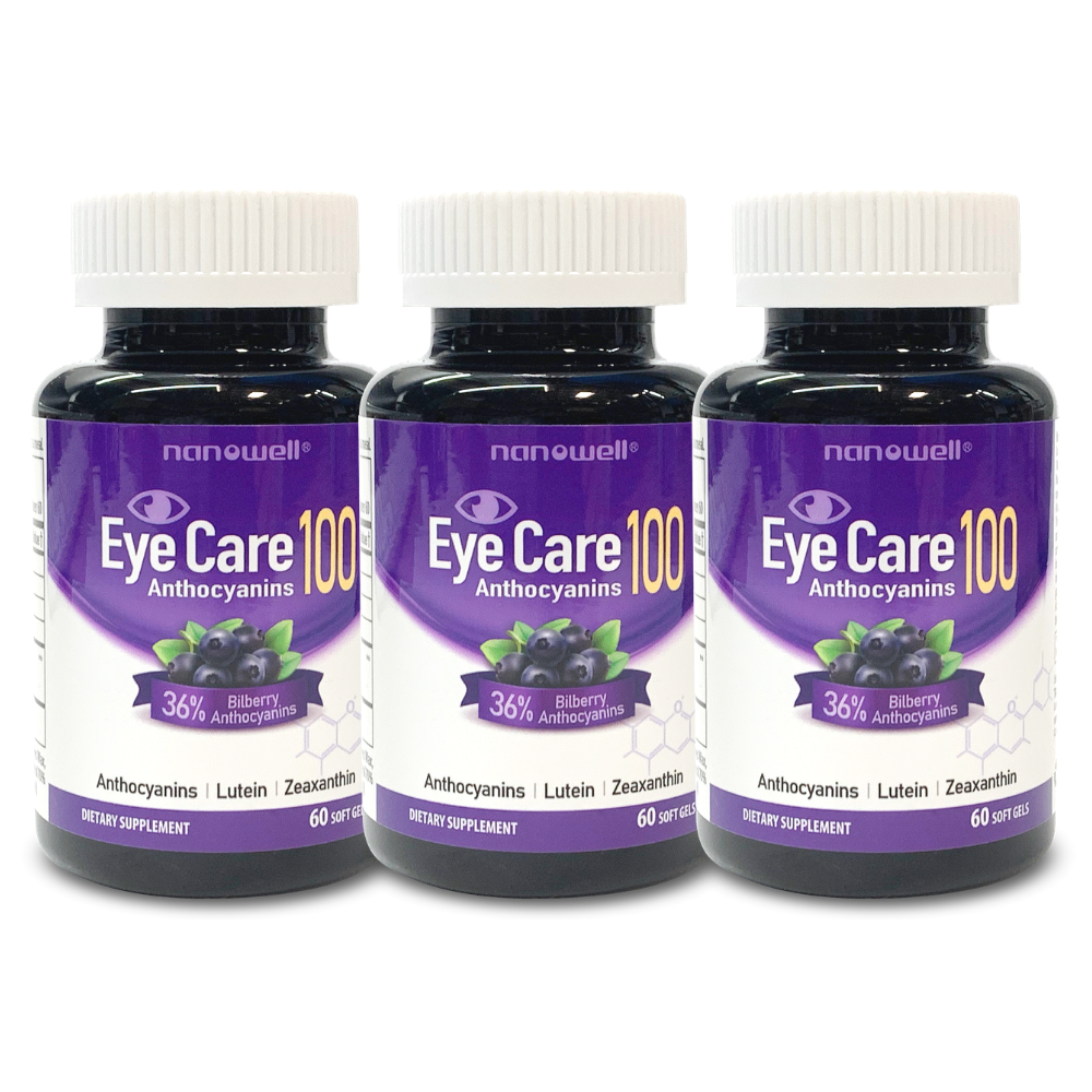 3 Bottles of EyeCare Anthocyanins 100 (6 Months)