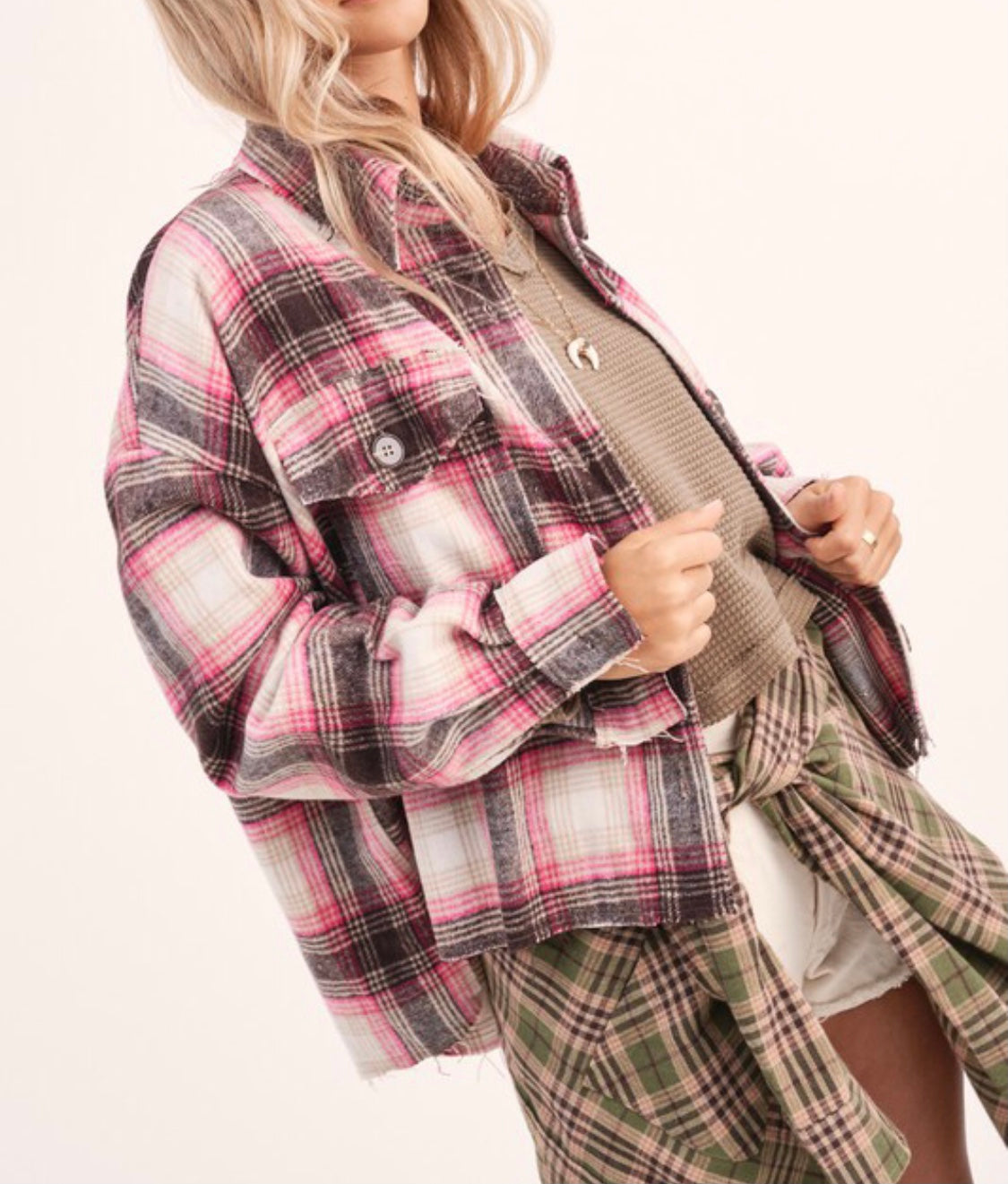 Pink Plaid Flannel