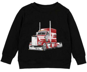 Oaklee Red Truck Long Sleeve