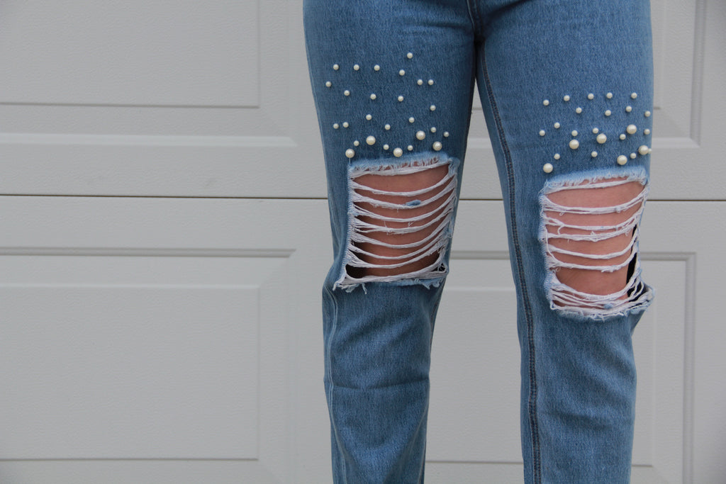 Addie Pearl Distressed Jeans