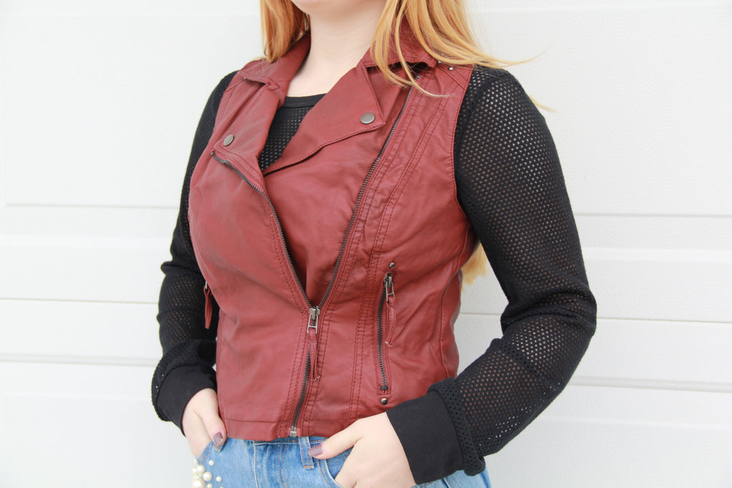 Kinzie Leather Vest