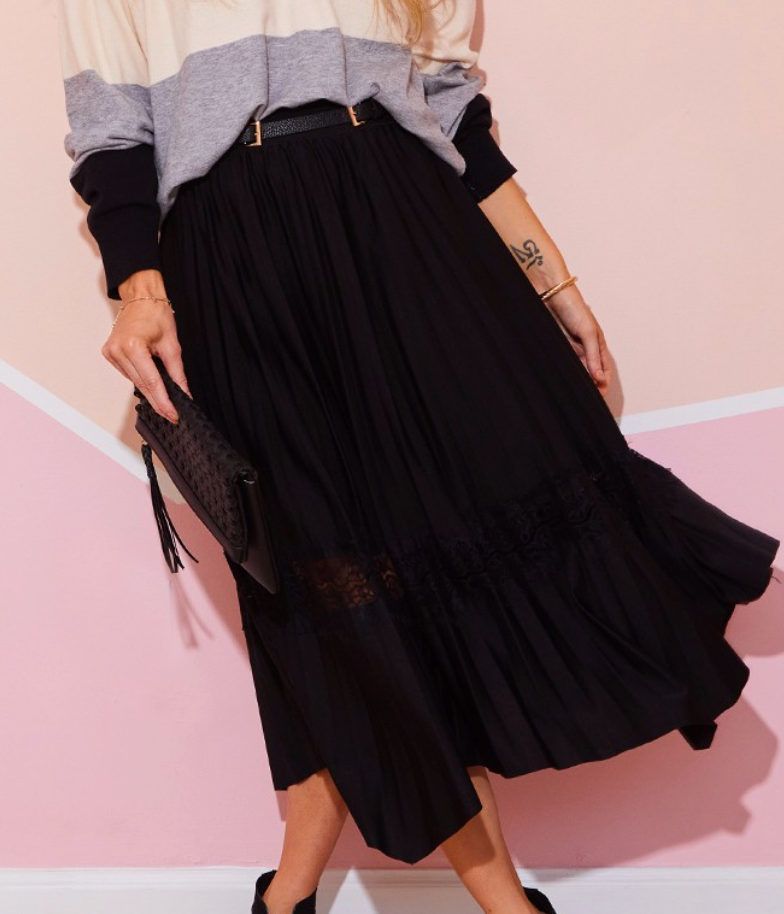Need It Lace Insert Skirt