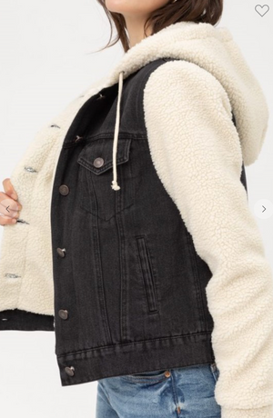 Dreamy Sherpa Denim Jacket