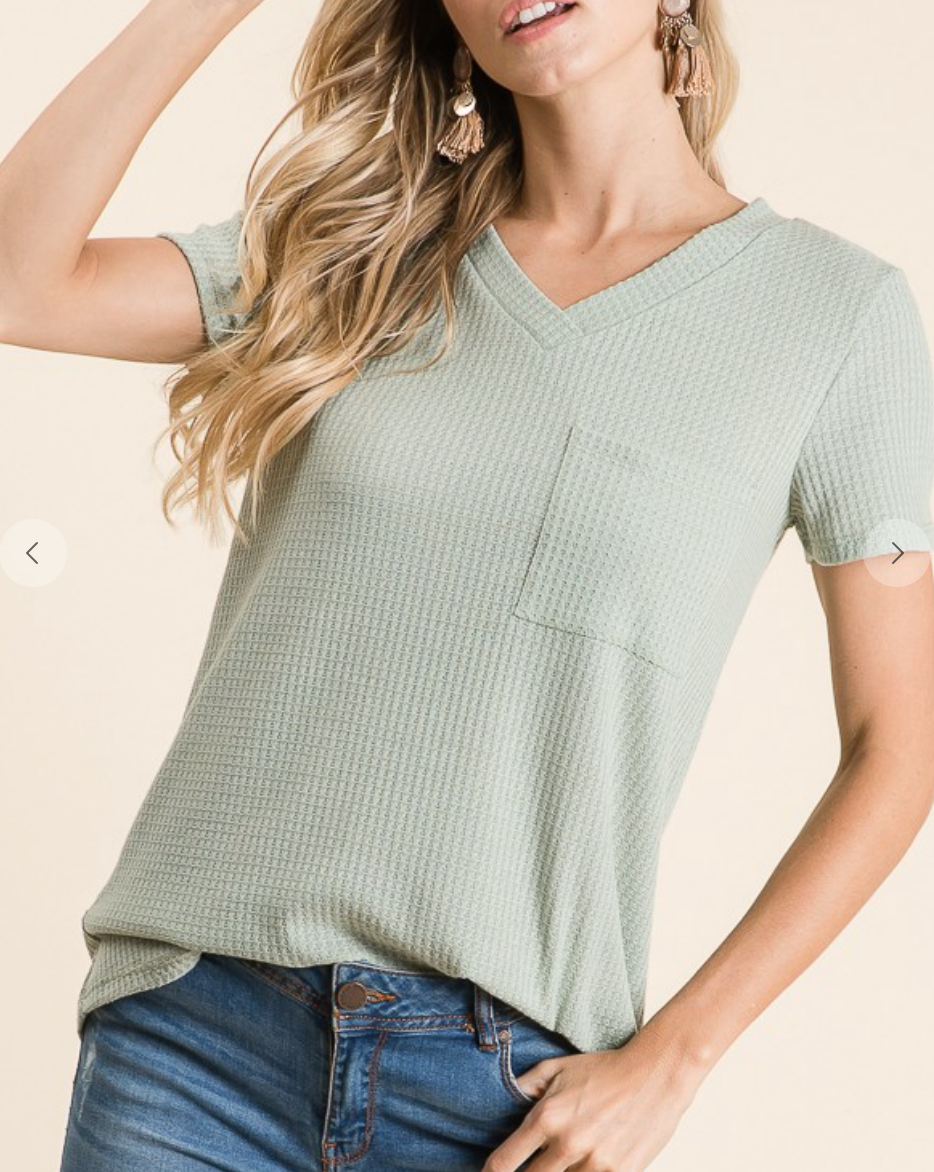 Kelley Sage V-Neck
