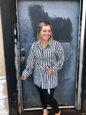 Workin Woman Stripe Top