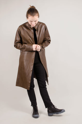 ANNETTE GÖRTZ - Tiago Leather Coat - Brown