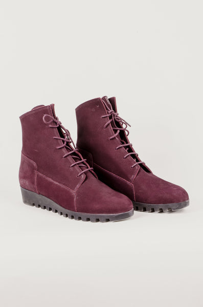 ARCHE - Lace Up Boots - Burgundy