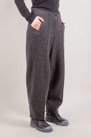 ELEMENTE CLEMENTE - Yolo Wool Trousers - Anthracite