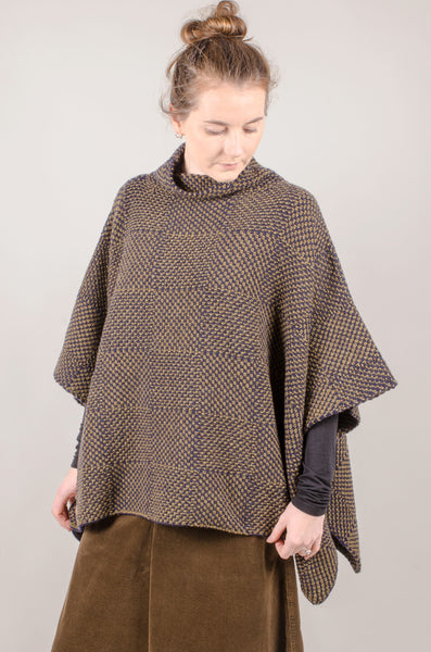 Fisherman Poncho - Green/Blue