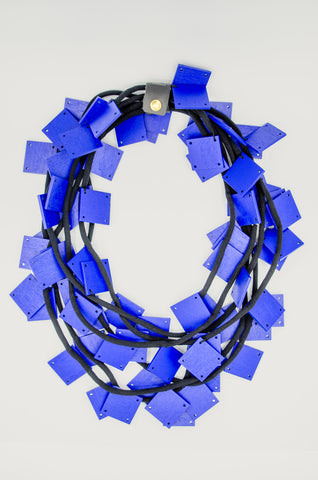 Blue Square Necklace