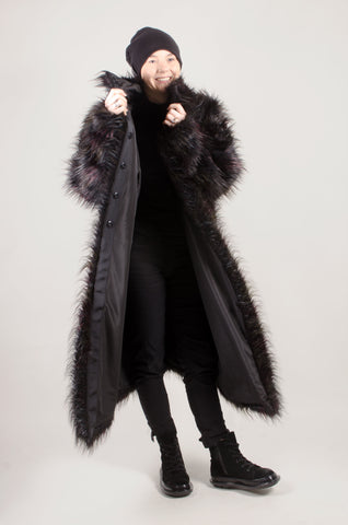 RUNDHOLZ - Long Black Gorilla Coat - Black