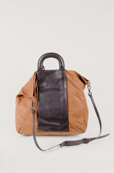 MALLONI - Handle Bag - Black/Tan