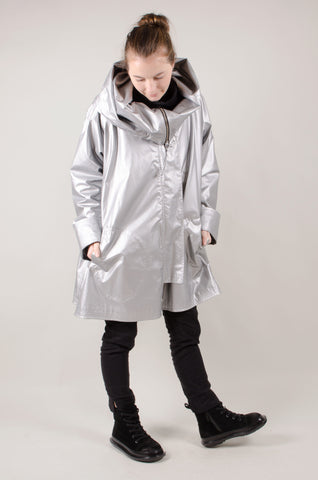 WATERPROOF - Hooded Coat - Silver
