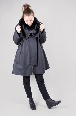WATERPROOF - Hooded Coat - Black