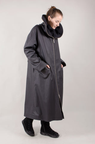 WATERPROOF - Full length Coat - Black