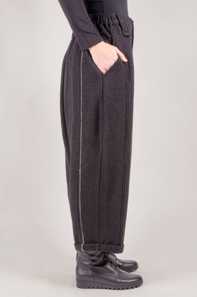 MOYURU - Wool Trousers - Black