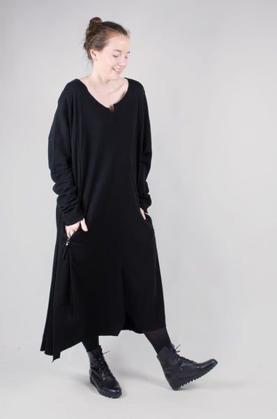 RUNDHOLZ - Zip Pocket Dress - Black