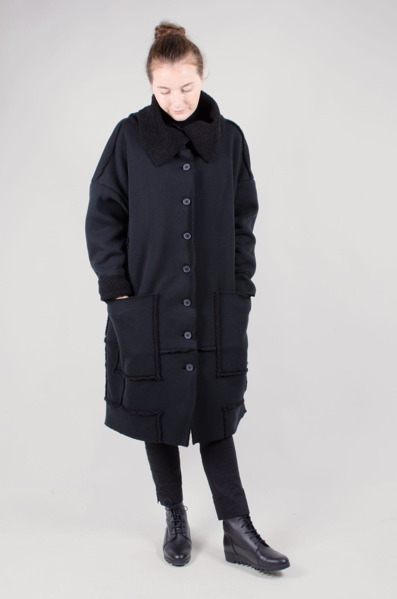 RUNDHOLZ - Reversible Coat - Black