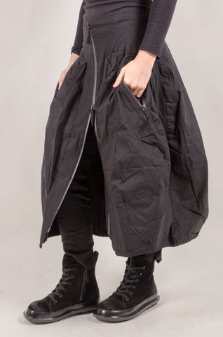 RUNDHOLZ - Zip Skirt - Black