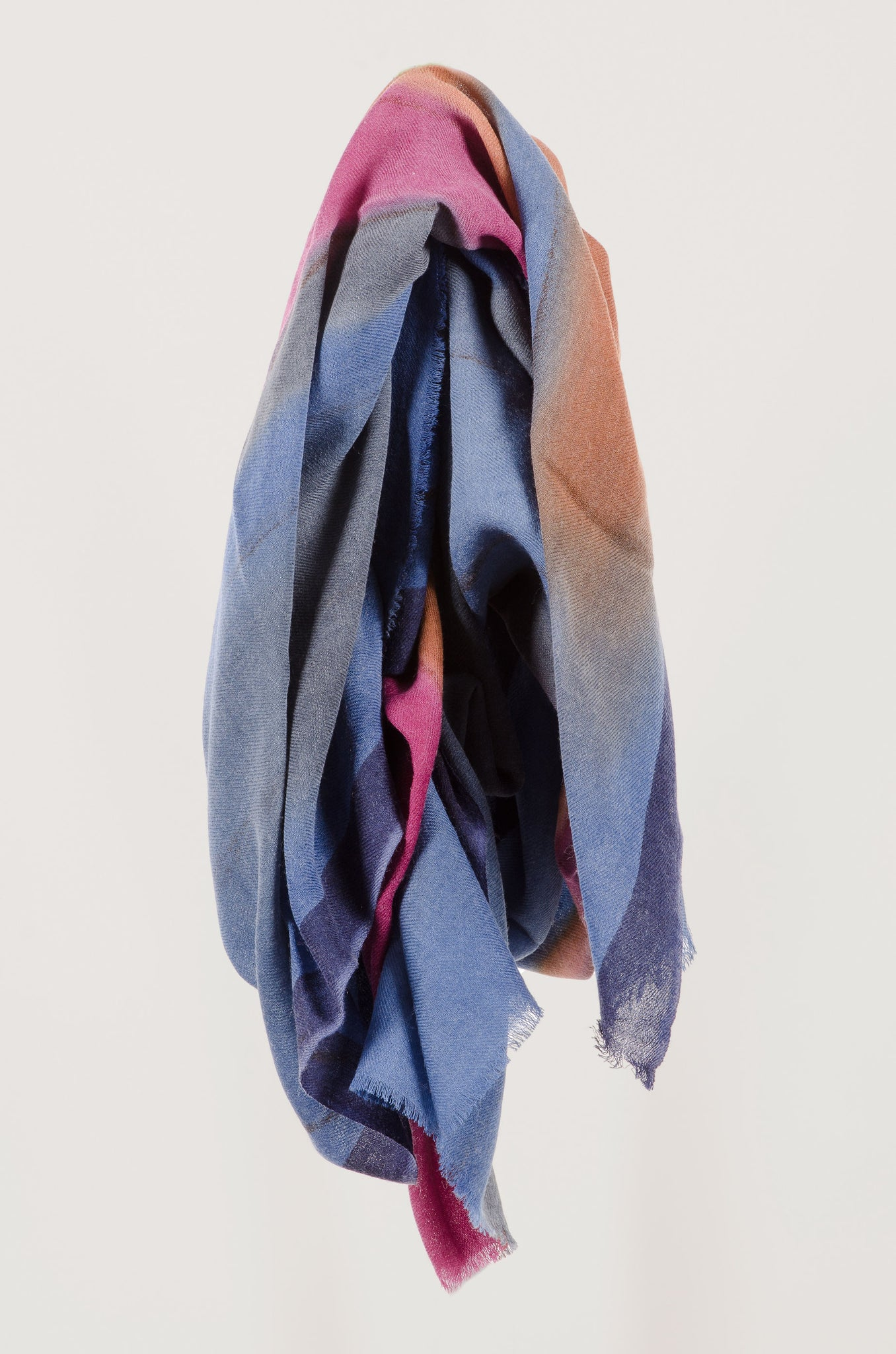 SCARF - Blue Pink Brown