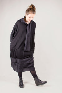 XENIA - Aisa Dress with Slits - Black