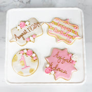 1st Birthday Cookies