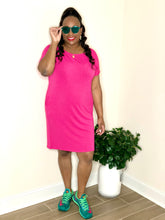 Load image into Gallery viewer, Plain Jane Dress (Hot Pink)