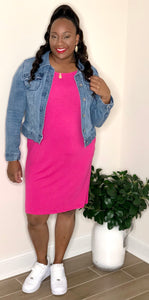 Plain Jane Dress (Hot Pink)