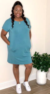 Plain Jane Dress (Teal)