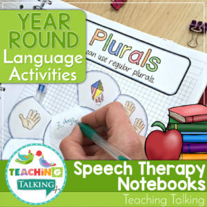 Year Round Language Notebooks for Speech and Language Therapy