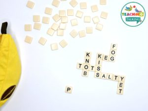 Bananagrams Game - for Speech Therapy