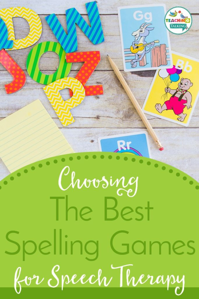 Choosing Spelling Games for Speech Therapy