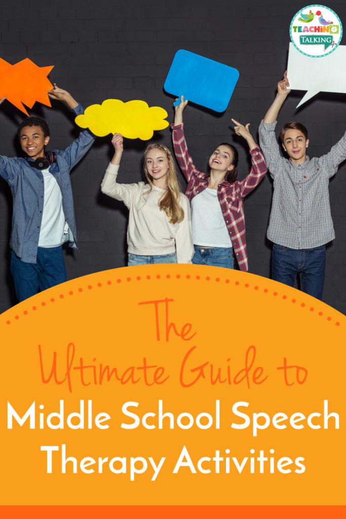 The Ultimate Guide to Middle School Speech Therapy Activities