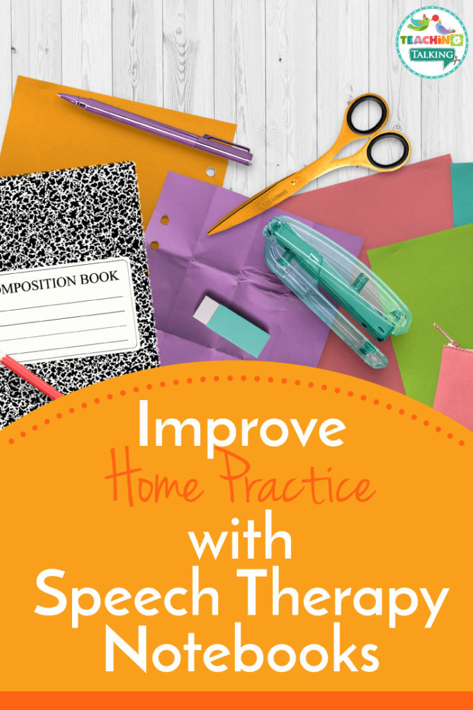 Speech Therapy Notebooks for Home Practice
