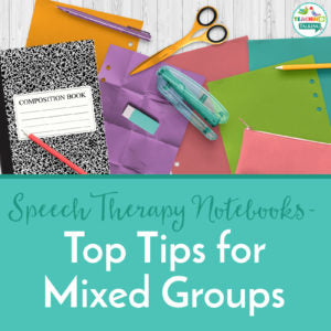 How Can I Use Speech Therapy Notebooks With Mixed Groups?