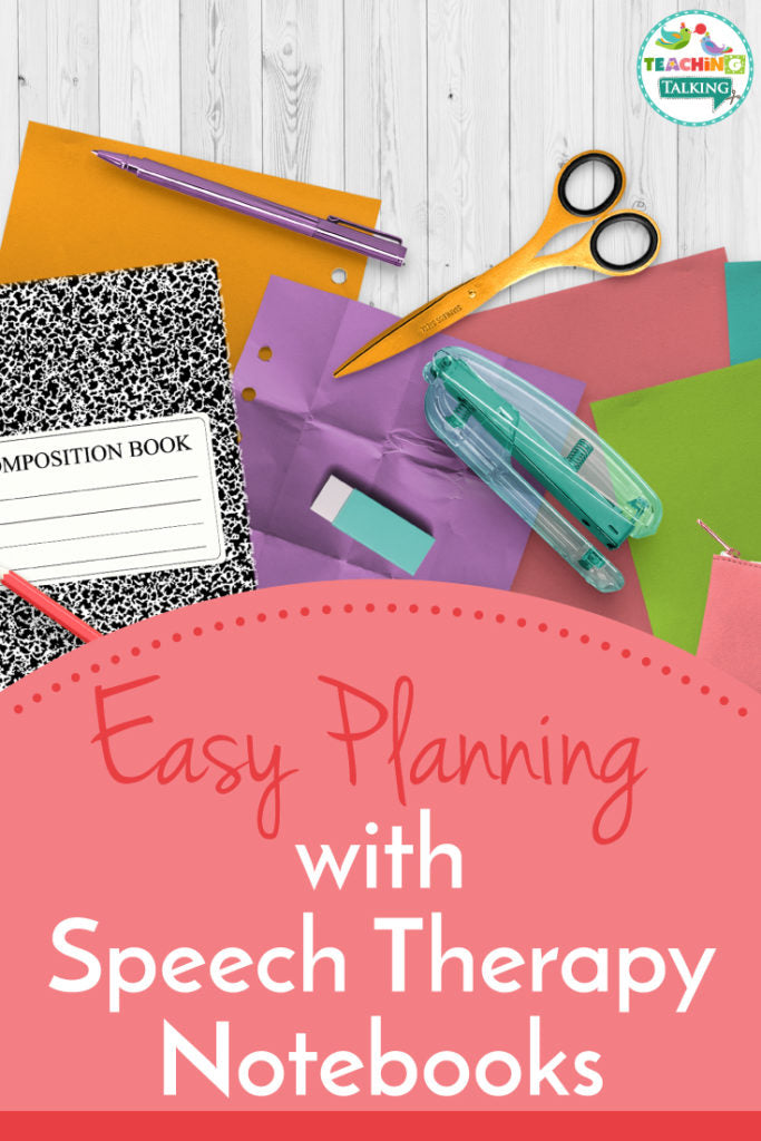 Speech therapy notebook benefits