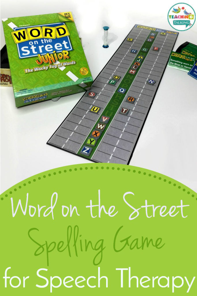 Word on the street spelling game-for speech therapy