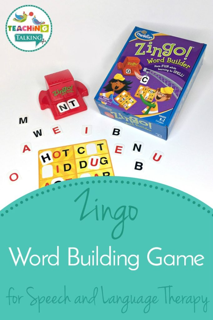 Zingo Word Building Game for Speech and Language Therapy