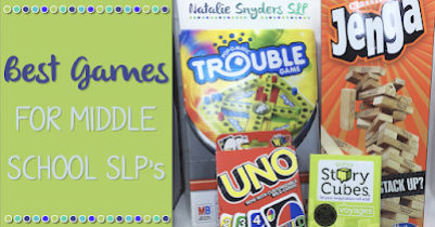 Middle School Speech Therapy Activities - Brought to you by Natalie Snyders SLP