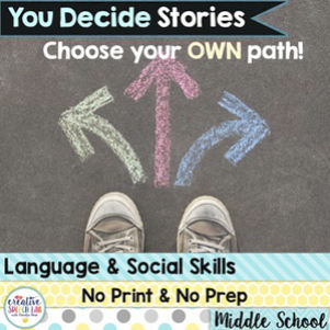 Middle School Speech Therapy Activities - Brought to you by Creative Speech Lab