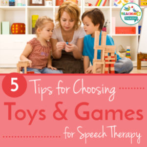 How to choose toys and games for speech therapy