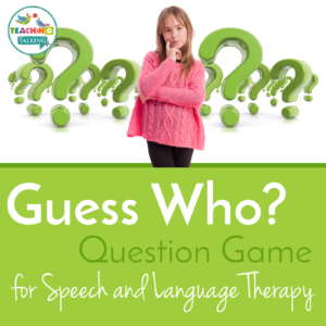 Guess Who? game for Speech Therapy